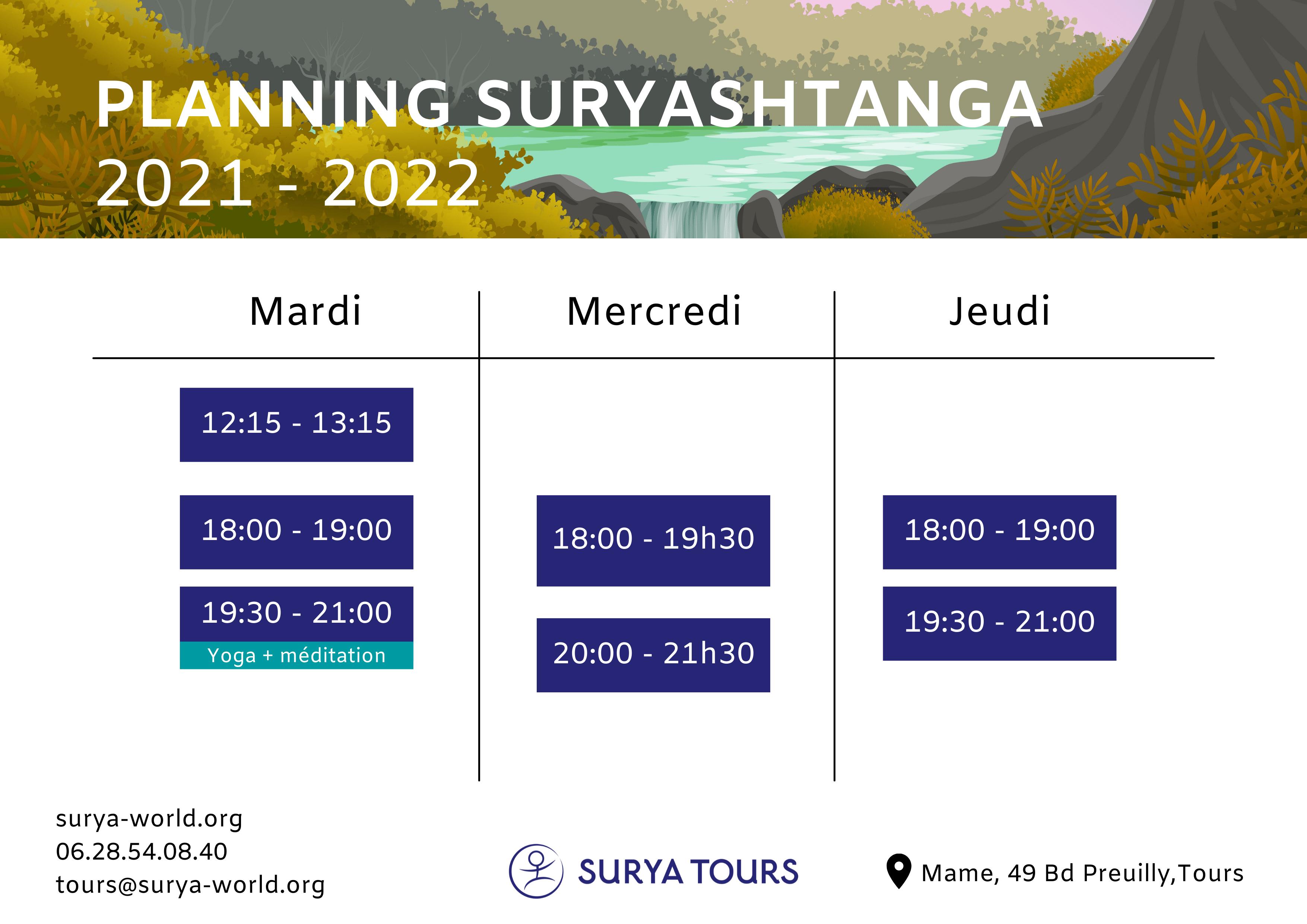 Surya, Yoga et méditation à Tours